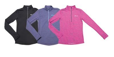 HALF ZIP RUN CR WOMEN